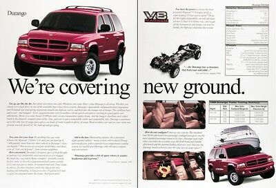 1999 DODGE DURANGO Genuine Vintage Advertisement ~ Tow Tow Tow Your Boat