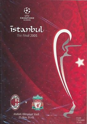 UEFA CHAMPIONS LEAGUE FINAL 2005 Liverpool v AC Milan - ORIGINAL match programme