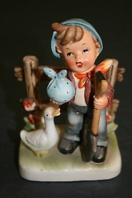 "Vintage Hummel ""Like"" Figurine ""Wales Boy with Shovel and Sack"""