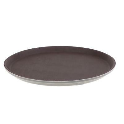 Serving Fruit /Vegetables Tray Plastic Circular Shaped Cup Tray 40cm Brown