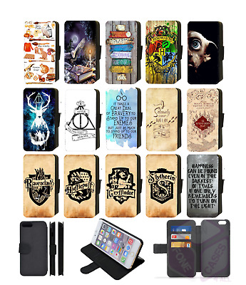 HARRY POTTER HOGWARTS Wallet Flip Phone Case Cover Galaxy S5 S6 S7 Edge S8 S9
