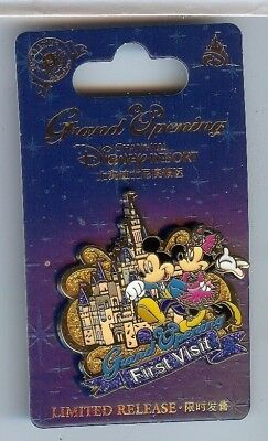 Disney Parks Shanghai Grand Opening MICKEY MINNIE MOUSE FIRST VISIT Pin LE LR