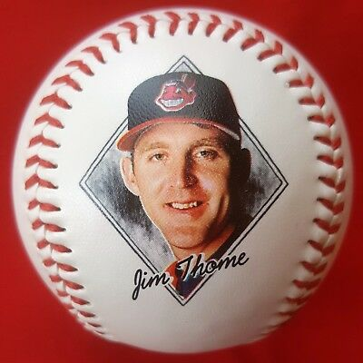 JIM THOME #25 1997 Photo Baseball (1996 Stats) CLEVELAND INDIANS Jacobs Field