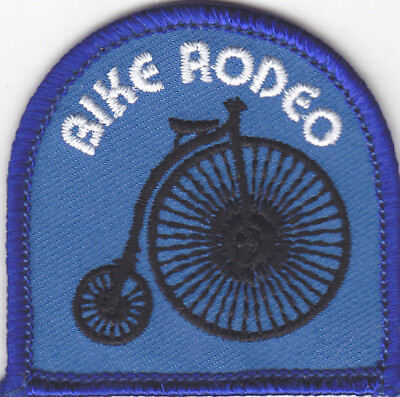 """/""""BIKE RODEO/"""" Iron On Patch Sports Bikers Bicycles"""