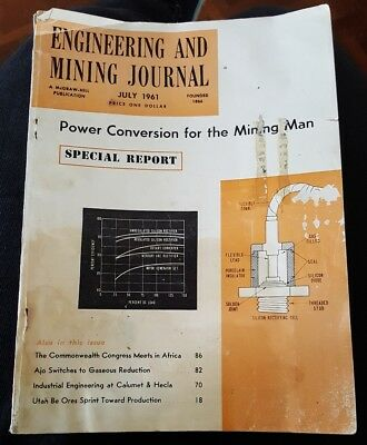 Rare July 1961 Engineering And Mining Journal Magazine A Mcgraw Hill Publication
