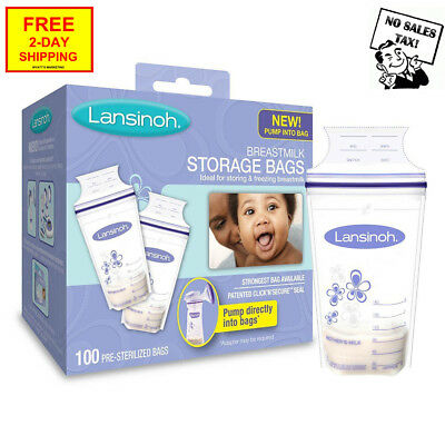 Lansinoh Breastmilk Storage Bags, 100 Count, BPA-BPS Free Convenient Pour Spout