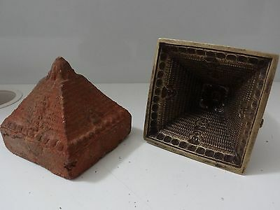 Antique Tibetan Buddhist Cast Brass Stupa Mould