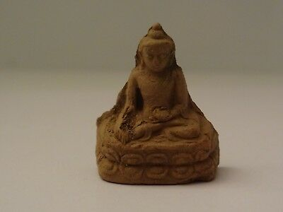 Antique  Tibet-Mongolian Buddhist Clay  Statue Fragment