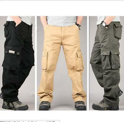 Outdoor Combat Mens Cotton Military Cargo Loose Pant Camo army Trousers new hot