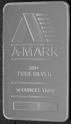 10 Oz A-Mark Silver Bar (New) .999 Fine Silver