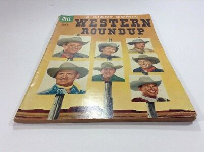 1955 # 12 WESTERN ROUNDUP 96 PAGES Dell Vintage Comic Book Golden Age Gene Autry