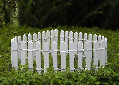 "Miniature Dollhouse Fairy Garden 2"" White Picket Fence - Buy 3 Save $5"