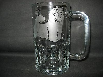 New Etched Havanese Glass Root Beer Mug