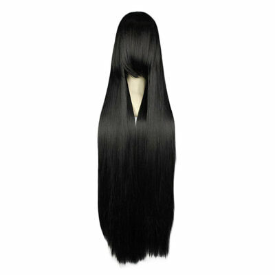 Women Fashionable 100CM Long Straight Synthetic Lolita Cosplay Party Wig GsHF