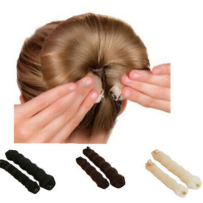 Sponge Hair Styling Bun Maker 2pcs Tool Donut Former Ring Shaper Magic Styler