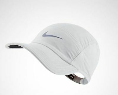683b1b39571b5 Nike AW84 Windrunner Five 5 Panel White Running Cap Hat 546004 100 NSW 3M  RFLCV