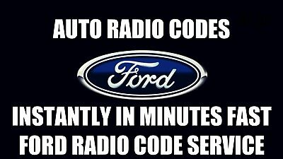 Ford 6000cd And 6006cdc Radio Code- INSTANT RADIO CODES SERVICE