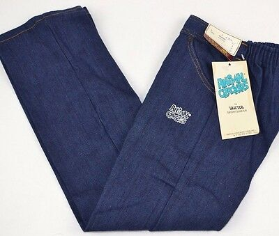 Vtg 1981 Animal Crackers LANA LION Youth SZ 6 Denim Blue Jeans New Concept - NOS
