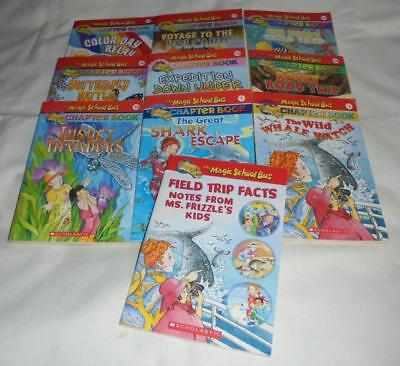 HUGE set of 10 The Magic School Bus series chapter books