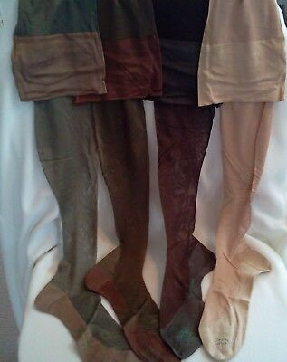 Vintage Womens Pure Silk Stockings, Belding Corticelli, Early 1930s  Sz 10, NOS