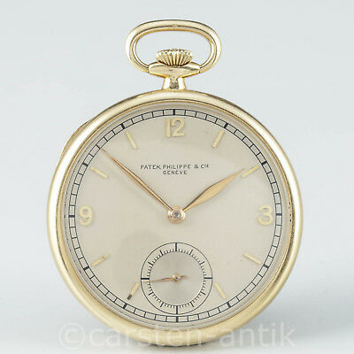 Absolut seltene Patek Philippe  Art Deco Frack Taschenuhr 1938 Dress watch