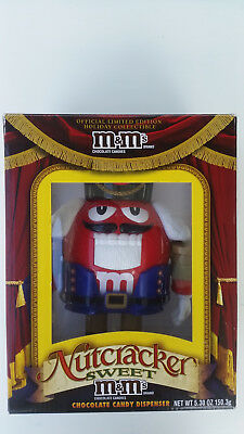 M&M's Nutcracker Sweet Candy Dispenser RED in BLUE Suit Limited, Collectable