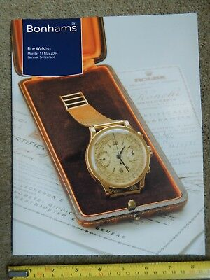 Bonhams Fine Watches May 17 2004 Geneva Catalogue Clocks Wristwatches Pocket Etc