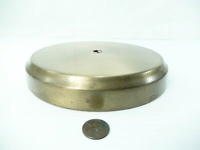 """Vintage Brass Plated Steel Lamp Base. 6"""" Seat. Small Cove Edge"""