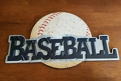 """Seattle Mariners MLB Baseball 12/"""" Round Metal Sign Sports Embossed Home Decor"""