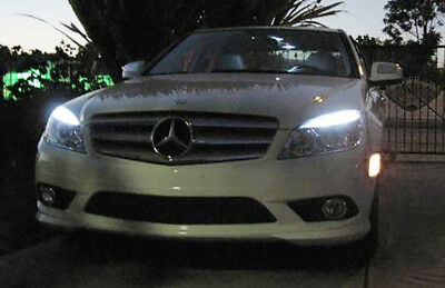 MERCEDES C Class W204 07-12 T10 LED SIDELIGHTS PARKING LIGHTS BULBS NO ERRORS