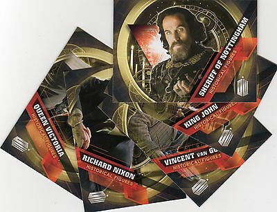 Doctor Who Topps 2016 Full Base, Silver & all 5 chase sets - Historical Figures