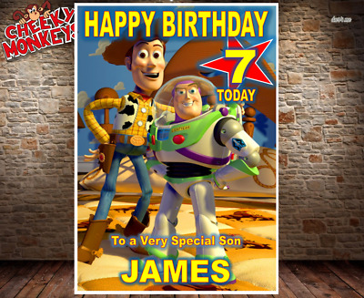 Toy Story Birthday Card 2 Personalised Daughter Son Girls Boys