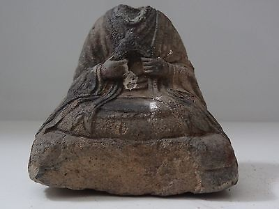 Antique  Tibetan  Buddhist Clay Tsa Tsa Statue  Fragment