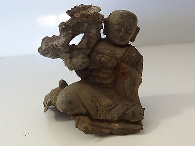 Antique Tibetan  Buddhist Damaged Lama Statue