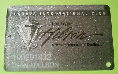 Hilton Hotel Casino Las Vegas, Nv. Silver Slot Card Great For Any Collection #1.