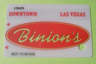 Binions Hotel Casino Las Vegas, Nevada Slot Card Great For Any Collection!