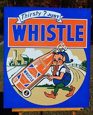"""Old Style 20"""" Whistle Elf Drink Sign Like Original Thick Steel Usa Made Super!"""