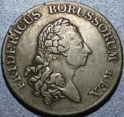 """1775 PRUSSIA Silver EIN REICHS THALER of Symphony Composer FREDERICK """"THE GREAT"""""""