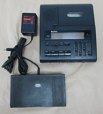 SONY BM-88 Cassette Dictation Transcriber Machine with Foot Pedal Made in Japan