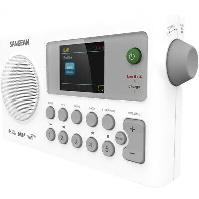 WFR27C SANGEAN Internet & DAB+ Portable Radio With FM- Rechargeable Sangean