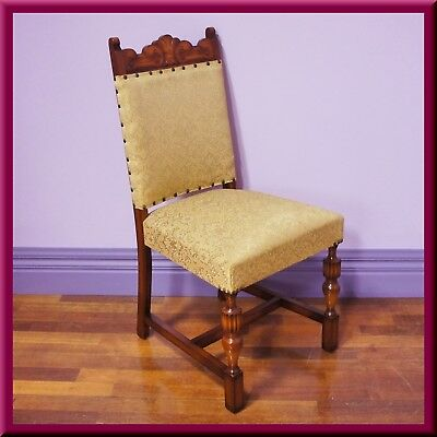 Antique style Jacobean Tudor Carved Dining Chair