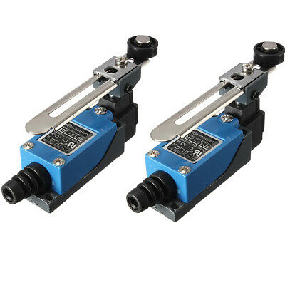 2X Rotary Limit Switch Adjustable Roller Lever Arm Micromotion Selfreset ME8108