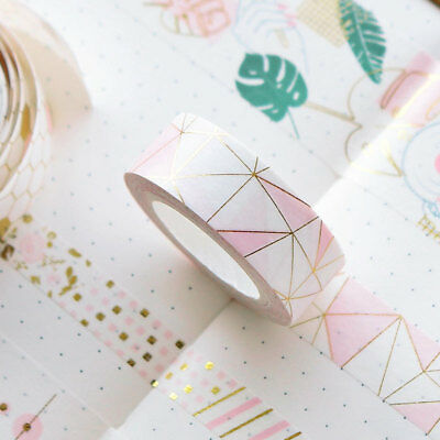 Pink Foil Paper Washi Tape Kawaii Stationery Scrapbooking Decorative Tapes NEWLY