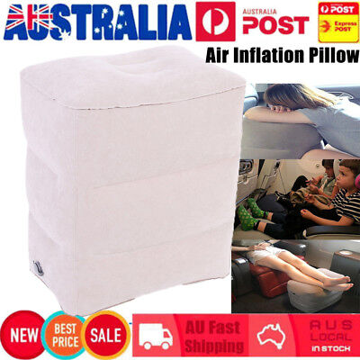 3 Step Height Adjustable Inflatable Travel Leg Foot Rest Pillow Plane Footrest