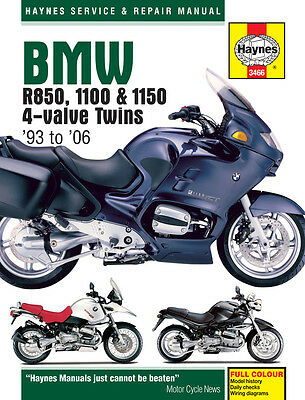 Haynes Manual Bmw R850R 1995-2006 HAYNES SERVICE MANUAL WORKSHOP MANUAL