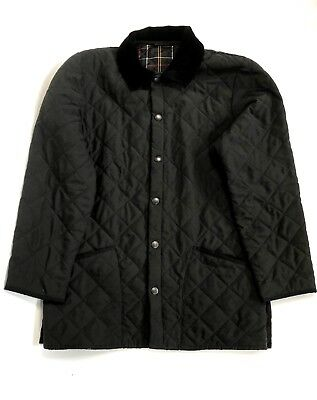 Barbour Classic Quilted Eskdale Black Coat Jacket Size  Mens XS Womens L