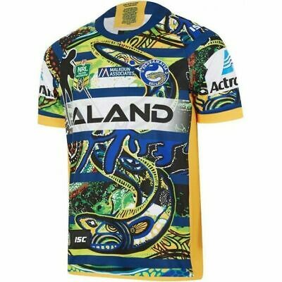 Parramatta Eels NRL 2018 ISC Indigenous Jersey Sizes S-5XL & Kids 6-14! In Stock