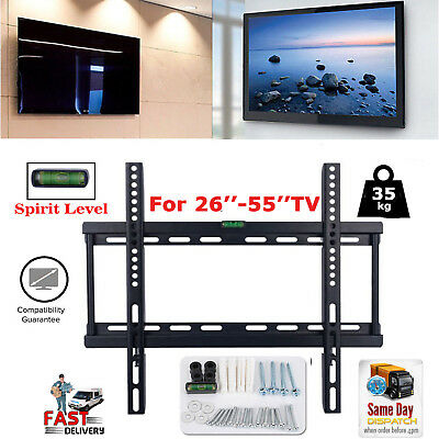 Slim TV Wall Mount Bracket 26-55'' LCD LED Plasma VESA 200-400mm 45KG Capacity