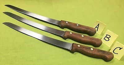 Dexter Russell Serrated Stainless Rosewood Handle Bread Knifes S47G10