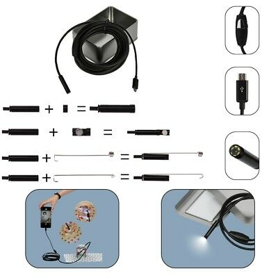 Endoscope for Android Waterproof Snake Borescope USB Inspection Camera 1M 2M 5M
